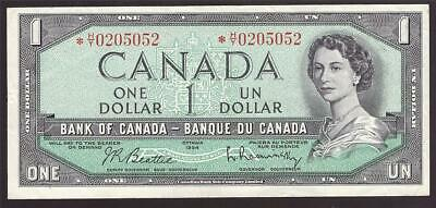 1954 Canada $1 dollar replacement banknote *H/Y0205052 BC-37bA VF25