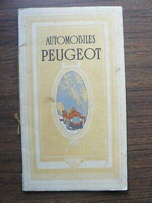 Automobiles PEUGEOT Ad Pricelist Brochure 1912 RARE with Russian Prices Enclosed