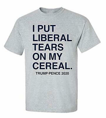 3295b57a Funny Political Liberal Tears Adult Unisex Short Sleeve T-Shirt-Sports Gray