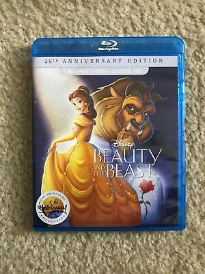 Beauty and the Beast (Blu-ray/DVD, 2016, 2-Disc Set, 25th Anniversary Edition...