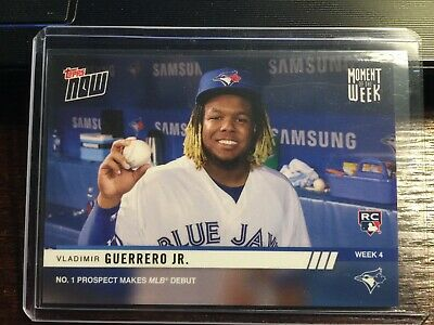 Vladimir Guerrero Jr. 2019 Topps NOW MOW4 Moment of the Week 4 RC Blue Jays