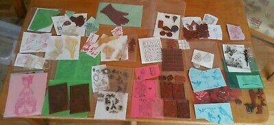 CLEAR RUBBER UNMOUNTED STAMP 76 pc LOT STEAM PUNK FAIRIES BIRDS LADIES