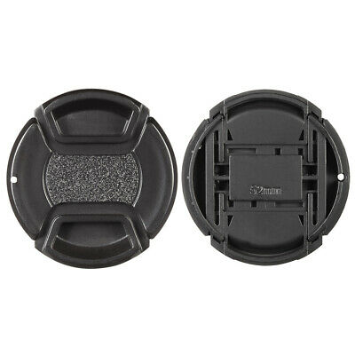 52mm Center Pinch Snap-on Lens Cap Cover Keeper Holder for Canon Nikon E7X7