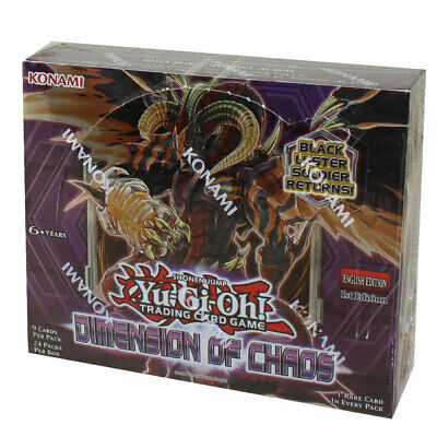 Yu-Gi-Oh Cards - Dimension of Chaos - Booster Box (24 Packs) -New Factory Sealed