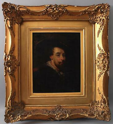 19thC Antique aft PETER PAUL RUBENS Old Master Self Portrait Painting Gilt Frame