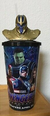Thanos Bust Topper Cup Movie Theater Cup Avengers Endgame Cinemark Josh Brolin