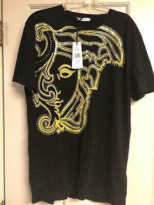 1fe460ce NWT Versace Collection Men's Black T-Shirt Nero+Stampa Size Medium MSRP $195