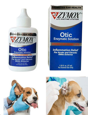 ZYMOX  Otic Pet Ear Infection Treatment Hydrocortisone  Enzymatic Dogs Cats