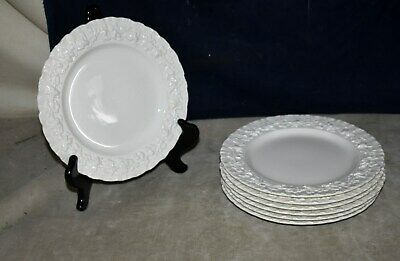 Beautiful Set Of 7 Wedgwood Queen's Ware Cream Salad/Dessert Plates