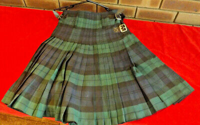 Kilt Mens Black Watch 8 Yard Size 32 New With Tags