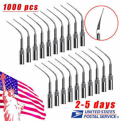 1000 Dental Perio Scaler Tips PD3 for DTE SATELEC Ultrasonic Scaler USA UO-SW