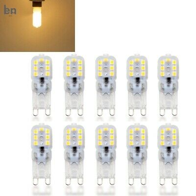 5/10pcs Dimmable G9 5W Silicone Crystal LED Corn Bulb Spot Light Lamp AC 220V RE