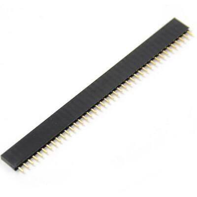 10Pcs Single Row 40Pin 2.54mm Round Female Pin Header gold plated machined