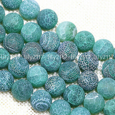 Natural 6/8/10/12mm Green Dream Fire Agate Gemstone Round Loose Beads 15'' AAA