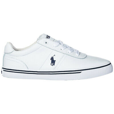 Polo Ralph Lauren Scarpe Sneakers Uomo In Pelle Nuove Hanford Bianco 2B0
