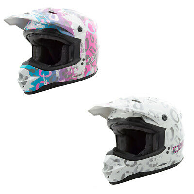 Adult GMAX GM76S Helmet ATV MX Moto Dirt Bike Motorcycle Off Road DOT