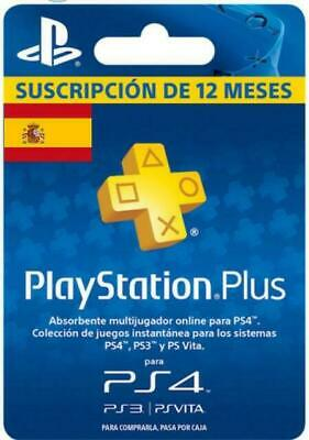 PlayStation Plus PSN Plus 12 Meses 1 Año PS3 PS4 PSVita GARANTIA LEE DESCRIPCION