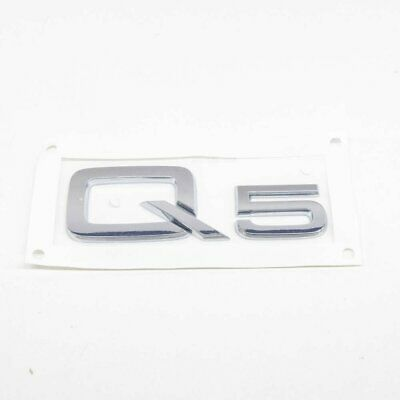 Audi Q5 8R Rear Boot Trunk Label Badge Decal Emblem 8R08537412ZZ NEW GENUINE