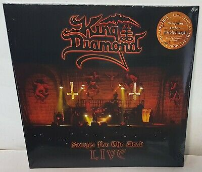 King Diamond Songs For The Dead Live Amber Marbled Vinyl LP Record new