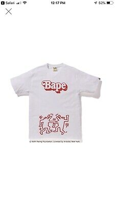 4361daef A BATHING APE X Keith Haring Green ABC Camo Tee BAPE In US Authentic ...