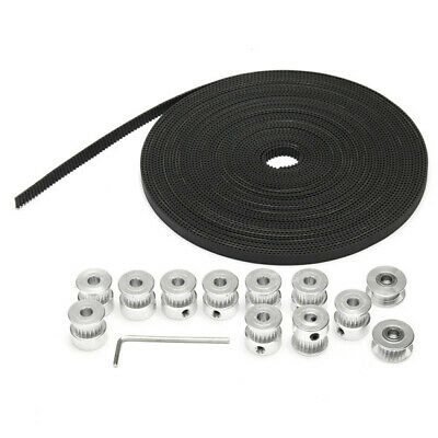 10pcs GT2 20T Bore 6mm Timing Pulley with 10m Belt and Tensioner