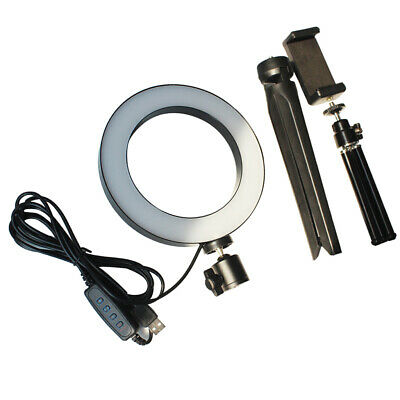 Dimmable LED Ring Light Kit 3200/5500K Circle Photography Vlog Fill Lighting