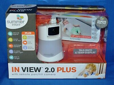 Summer Infant 29740 In View 2.0 Plus Baby Monitor w/ Remote Pan/Tilt Camera