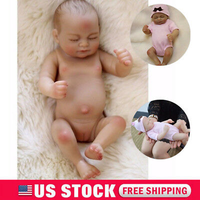Handmade Reborn Baby Girl Doll Newborn Lifelike Silicone Vinyl Doll Full Body US