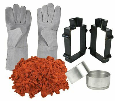 Sand Casting Set 5 Lbs Quick Metal Cast Sand Clay Mold Frame Safety Gloves