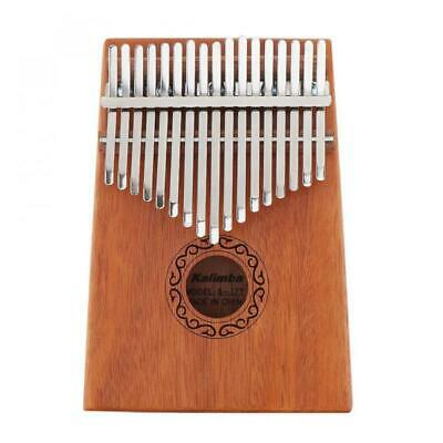 17 Key Kalimba Single Board Mahogany Thumb Piano Mbira W/ Komplettem Zubehör