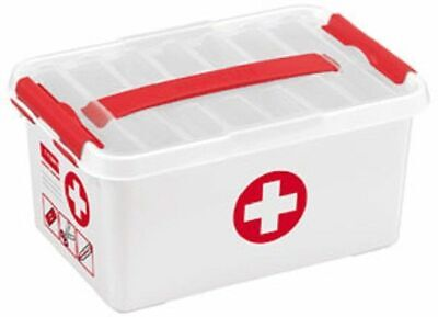 Sunware Q-line First Aid box 6L wit/roo