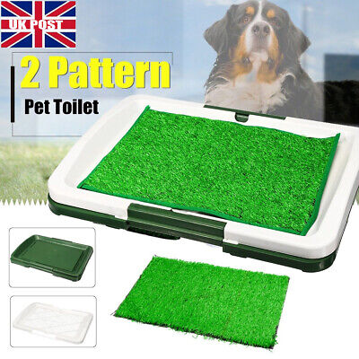 Large Dog Toilet Mat Indoor Potty Puppy Trainer Grass Litter Tray Pad Restroom O