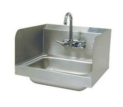 "Advance Tabco Wall Mount Hand Sink 14""x10""x5"" Bowl Side Splashes & Faucet"