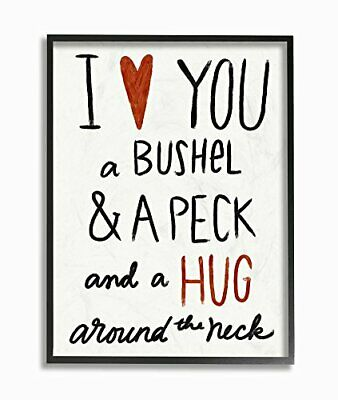"""Stupell Industries """"Bushel And a Peck And a Hug Intorno al Collo Oversize (l5k)"""
