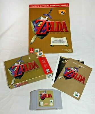 Legend Zelda Ocarina of Time Nintendo 64 Video Game Cartridge & Box Prima Guide