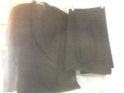 Nice Mens GINO CAPPELI COLLECTION Black 2 Piece Suit pre-owned Polyester