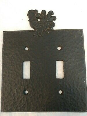 Rustic Farm Chicken Wall Iron double Light Switch Outlet Plate Cover Ornate