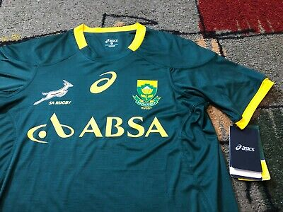 16b9007bddf NEW NWT Asics SA RUGBY SPRINGBOKS SOUTH AFRICA UNION NATIONAL TEAM JERSEY  SIZE M