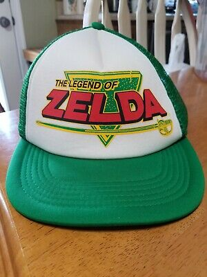 e4b2abd38d3bc Legend Of Zelda Nintendo Video Game 80 s Trucker Hat Retro Snapback Foam Cap  Grn