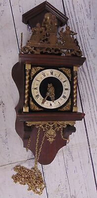 Large Vintage FRANZ HERMLE Dutch Nu Elck Syn Sin Weight Driven Wall Clock - R08