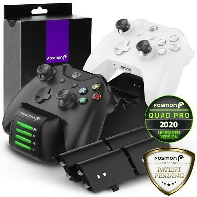 Fosmon Xbox One Controller LED Battery Slot Fast Charging Dock Stand Station