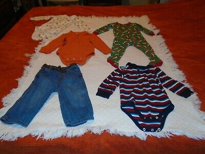 Lot of Baby Boy Clothes Size 12-18 Months Preowned 5 Items