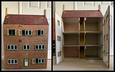 Large Hand Made Home Made Dolls House with 6 Rooms over 3 Floors