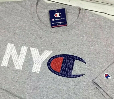 073a5bc3c43c Champion T-Shirt NYC Mosaic Style Logo Graphic Tee Crewneck Gray Men 2XL NWT