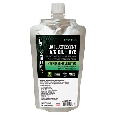 5 oz (148 ml) foil pouch hybrid/ester dyed oil Tracer Products TP32EHD-5