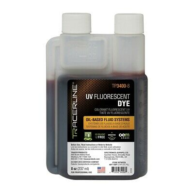 8 oz (237 ml) bottle of fluid dye Tracer Products TP3400-8