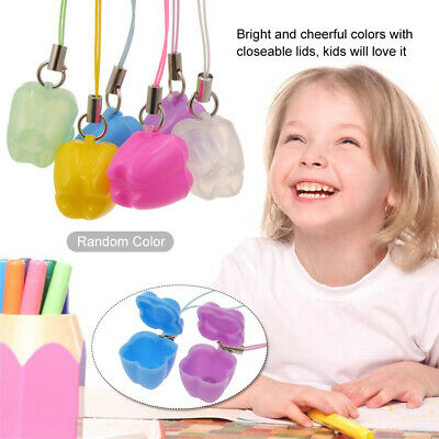 5pcs/lot Kids Baby Plastic Mini Tooth Box Organizer with String Necklace O7G3