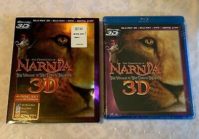 CHRONICLES OF NARNIA VOYAGE DAWN TREADER PG BLU-RAY 3D + DVD Disc Combo SEALED