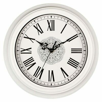 12-Inch Silent Non-Ticking Round Wall Clocks, Decorative Vintage Style Roma B5X6