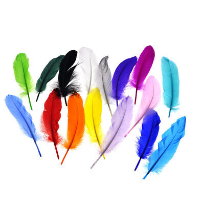 Wholesale! Beautiful natural goose feather 15-20cm / 6-8inches 50pcs Multi-Color
